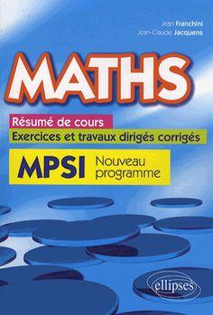mathmatiques pour le futur ingnieur rappel de cours et exercices corrigs jos ouin httpwwweditions ellipsesfrpopup_imagephp - Resume Cours Science Bac Math