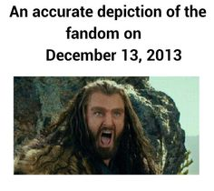 Knowing that by this time tomorrow I will have finally seen The Desolation of Smaug......