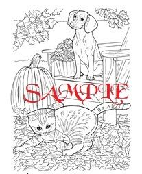 Cat Dog And Pumpkin Single Colour Pdf Cross Stitch Chart Dog Coloring Book Cat Coloring Page Cat Coloring Book