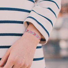"#Tattly temporary tattoo ""Friendship Bracelet"" designed by #JuliaRothman"