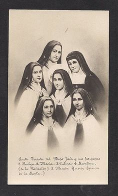 St Theresa of Lisieux and her sisters Catholic Art, Catholic Saints, Roman Catholic, Sainte Therese De Lisieux, Ste Therese, Religious Images, Religious Art, Bride Of Christ, Blessed Mother