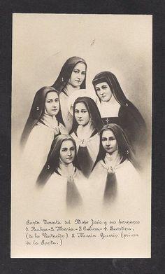 Santa Terezinha, ao centro, e suas irmãs.