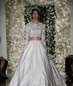 Crop top di pizzo Reem Acra