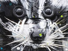 Detail- an amazing series of 3D creations made with trash, garbage and objects found in the street! Some absolutely awesome explosive and colorful creations by Bordalo ll