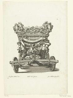 Josef Friedrich Leopold   Vooraanzicht van koets, Josef Friedrich Leopold, 1700  