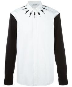 fc4d1e265cc2 Neil Barrett - White Lightning Printed Shirt for Men - Lyst