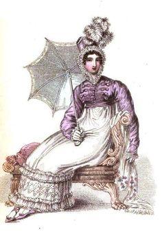 La Belle Assemblee, Promenade Dress, November 1816.  So charming…