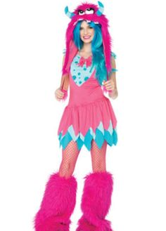 Pink monster costume for teens