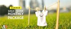 Summer silver monthly wash (75 garments per month) in just Rs.925.