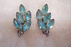 Aquamarine Rhinestone Earrings