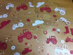 Terrific Totally Free Birthday Decorations red Strategies Foamy pastel brownies, colourful images, balloons in addition to ribbons. Fun-filled schoolhouse vibe and dreamy enjoyme Birthday Party At Home, Free Birthday, Birthday Room Decorations, Table Decorations, Red Tractor Birthday, Tractor Baby Shower, Tractor Wedding, White Tractor, Baby Shower Themes