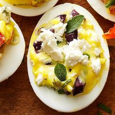 Greek-Style Deviled Eggs From Better Homes and Gardens, ideas and improvement projects for your home and garden plus recipes and entertaining ideas.