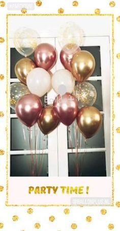 Ballondecoraties , zoals deze helium ballon trossen , op tijd bestellen om teleurstelling te voorkomen.  Afhalen in Nieuwegein bij Boeketten.nl Party Time, Om, Glamour, Future, Ideas, Future Tense, Thoughts