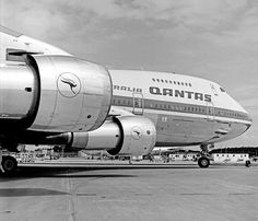 """Qantas Boeing 747-238B VH-EBA """"City of Canberra"""" ready for delivery at Seattle, July 1971. (Photo: Qantas Heritage Collection Copyright Image 4630-531)"""