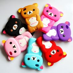 Lovely 3D Cute Bear Soft Silicone Back Cover Case Skin Protector for iPhone 4 4S | eBay