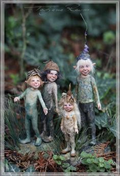 dolls ethnic Click Visit link above for more options - Caring For Your Collectable Dolls. Woodland Creatures, Magical Creatures, Fantasy Creatures, Elves And Fairies, Clay Fairies, Kobold, Fairy Crafts, Fairy Figurines, Baby Fairy