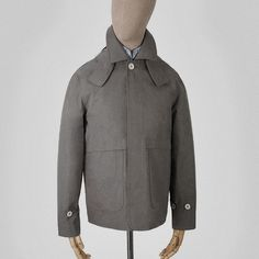 Taupe Ventile jacket with detachable hood Clothes made in England