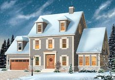 Cape Cod Colonial House Plan 76144