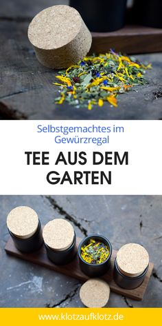 Homemade in spice rack: tea from the garden- In our magazine you will find a great article on how you can make a delicious tea from garden herbs. # spices Source by - Food N, Diy Food, Food And Drink, Herbal Tea Benefits, Herbal Teas, Tea Blends, Tea Recipes, Herbalism, Homemade