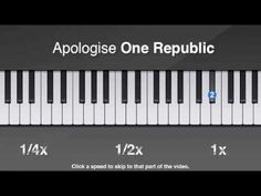 How to play Apologize by One Republic on piano