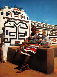 Ndebele maiden, South Africa