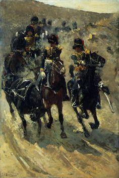 George Hendrik Breitner - Rijdende Artillerie (Yellow Riders) - 1885-1886