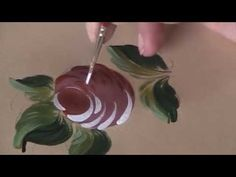Classic Ball Rose - Bauernmalerei, Decorative Painting Online Painting L...