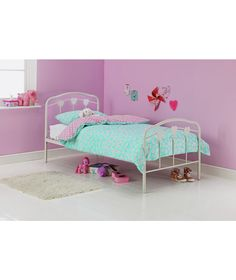 Buy Hearts Single Bed Frame - White at Argos.co.uk - Your Online Shop for Children's beds, Children's beds.