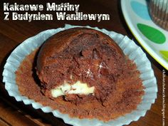 Kakaowe muffiny z budyniem
