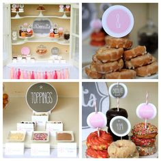 donut bar wedding or party food station labels and by kojodesigns