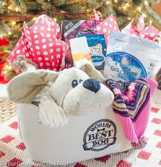 Pet gift basket dog gift basket featuring toys for by doggytrakxx easy to make dog christmas gift basket negle Images