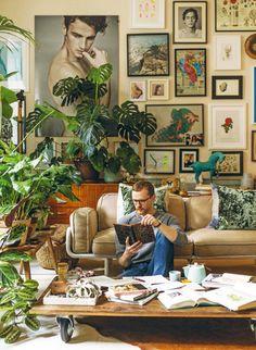 O ROŚLINACH - Radosław Berendt, Łukasz Marcinkowski / Kwiaty&MIUT - Warsawnow! Najciekawsze wydarzenia i miejsca w Warszawie Jungle House, English Decor, Room With Plants, English Style, Cozy House, Decoration, My Room, Room Inspiration, Living Room Designs