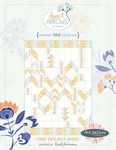 How often do you get to spend some quality time quilting? Try out this Desert Arrows quilt created using the Tule Collection by Leah Duncan. There's a FREE pattern, just for you ; Quilting Tutorials, Quilting Projects, Quilting Designs, Sewing Projects, Quilting Ideas, Quilt Design, Crafty Projects, Fabric Design, Arrow Quilt
