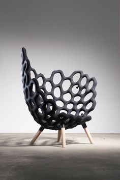 Textile Moulded Chair by Studio Hausen