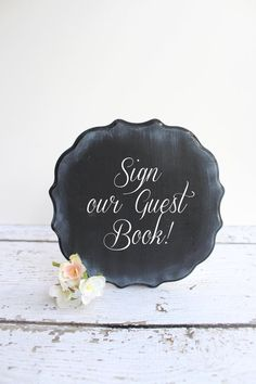 Rustic Wedding Chalkboard - Wedding Decor - FreeStanding Chalkboard Decor via Etsy