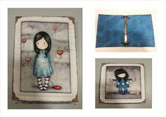 Carpeta forrada con tela muñecas colección Gorjuss...
