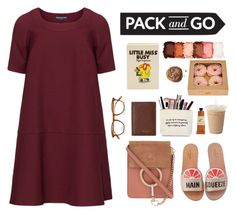 """""""pack and go"""" by hanifah-ulla ❤ liked on Polyvore featuring Olympia Le-Tan, Manon Baptiste, Crabtree & Evelyn, NYX, Ted Baker, Garrett Leight, Kate Spade and Chloé"""