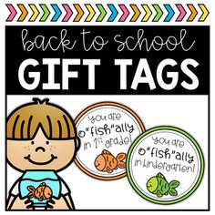 Create a simple back to school gift using these bright and fun gift tags! Print, cut, and attach to gold fish for an easy student gift for open house, meet the teacher, or back to school! XO, Happy Teaching! Teacher Tools, Teacher Gifts, Welcome To Kindergarten, O Fish Ally, Meet The Teacher, Back To School Gifts, Fishing Gifts, Student Gifts, Open House