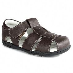 8b17d53f226c Keep your little man stylish and comfy this summer in this all leather  sandal with Memory Foam Technology™.