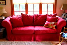 Genial Red Sofa Covers, Red Is Such A Vibrant Color Which Attracts The Attention  Of Energetic People And Is Loved By Many Individuals Including Children.