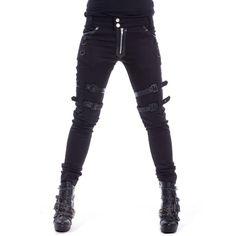 Bondagehose im Gothic Style mit schwarzen Nieten | VOODOOMANIACS