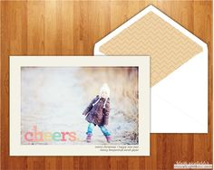 Cheers!, Holiday Photo Greeting Card by Blush Printables