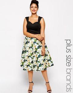 #sanscomplexe #flower #mode #fashion #Asos #Curve #skirt