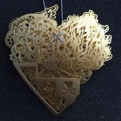Paper heart art