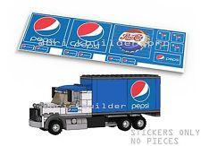Stickers Lego Custom, Blue Cola Box Truck Instructions city town pepsi st025