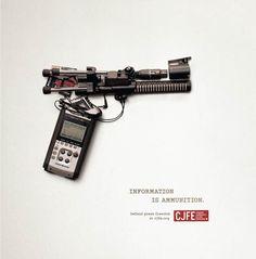 Les armes des journalistes – Superbe campagne pour la liberté d'expression | Ufunk.net