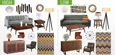 Get the Mid-Century Modern Look on any Budget