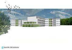 Beverweerd gemeente Bunnik ontwikkeling woningbouw in ontwerpfase met Henk van Hooff Architct voor Brand BBA