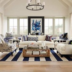 Go Nautical | Beachy Living Room Ideas: How to Bring the Beach To Your Home