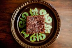 Old-fashioned gingerbread cake loaded with three kinds of ginger, spices, honey and molasses.